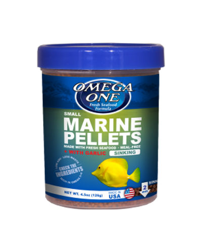 Picture of Omega One Small Sinking Garlic Marine Pellets - 8.25 oz