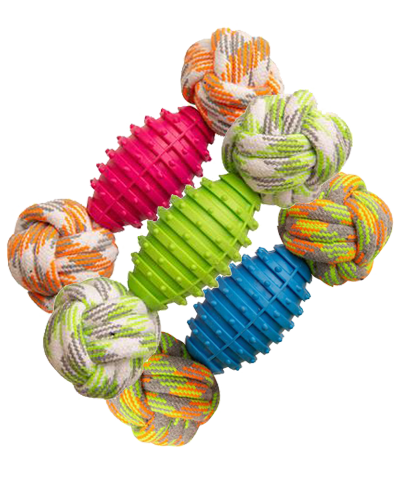 """Picture of Snugarooz Assorted  Knot Yours Rope Toy - 9"""""""