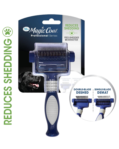 Picture of Four Paws Magic Coat Professional Series 2 in 1 Quick Shed Pro-Shedder and Dematter Grooming Tool