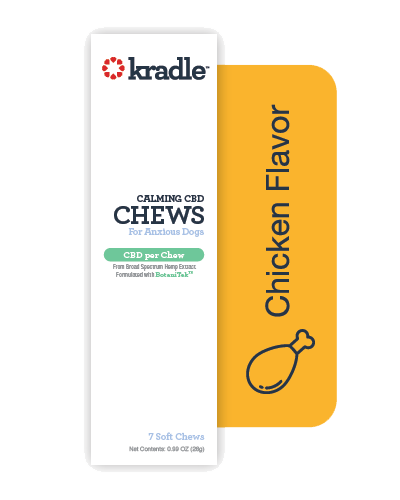 Picture of Kradle Chicken Flavor Calming CBD Chews for Medium Dogs (26-50 lbs) - 7 Count