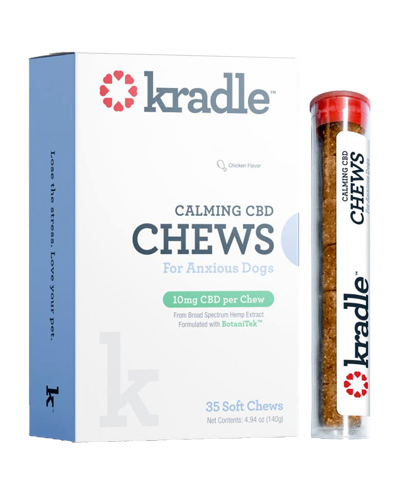 Picture of Kradle Chicken Flavor Calming CBD Chews for Medium Dogs (26-50 lbs) - 35 Count