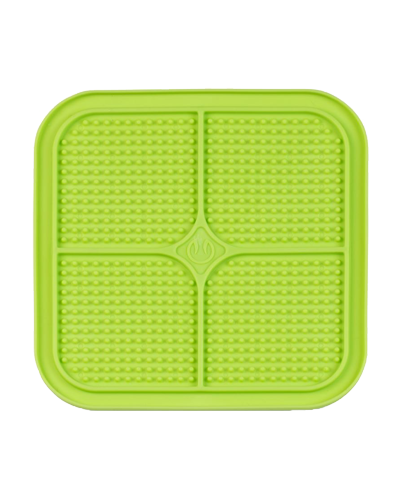 Picture of Pet Zone Hyper Pet Boredom Buster Relax Green Dots Slow Feeder Licking Mat