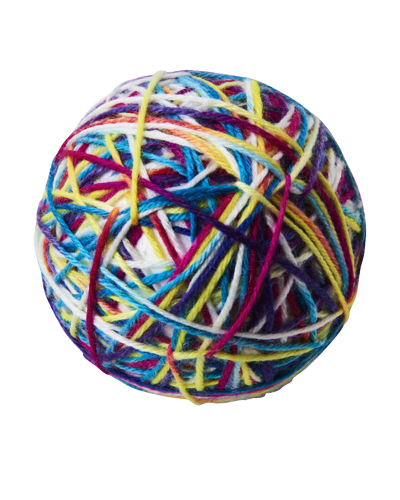 """Picture of Ethical Spot Sew Much Fun Yarn Ball 3.5"""" Cat Toy"""