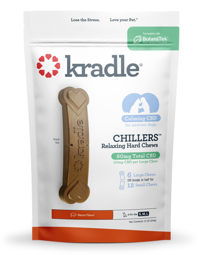 Picture of Kradle CBD Bacon Chillers for Dogs 5-51+ lbs - 6 Count