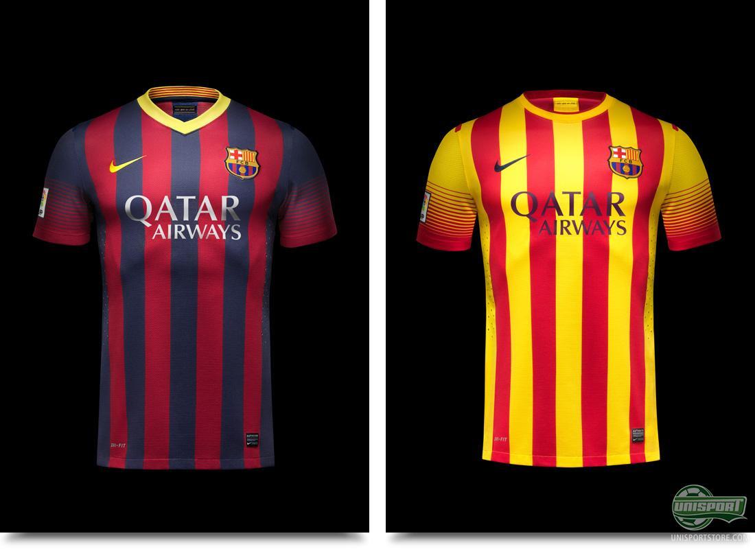 sale retailer 59d2e 6d611 barcelona home away kit