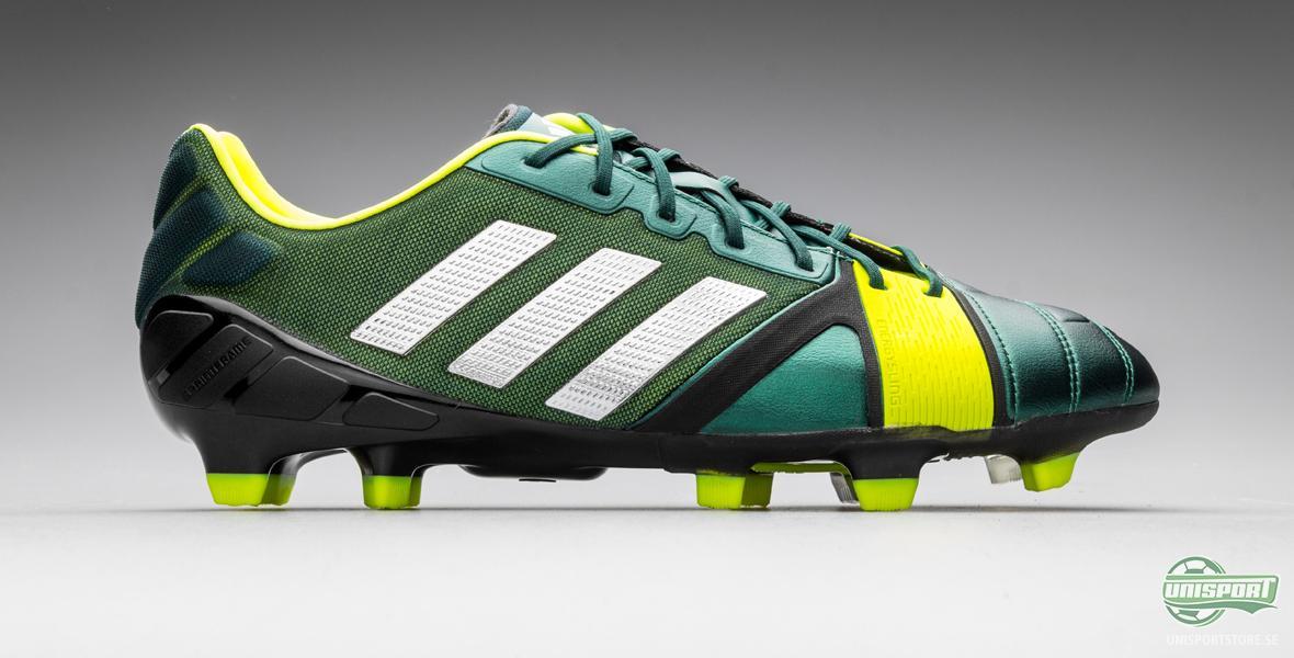 När vi nu lyfter på den tredje färgvarianten på Adidas Nitrocharge 1.0 så  är det i en helt mörkgrön färg med vita Adidas-ränder och Energysling över  ... edd4f10410a8d