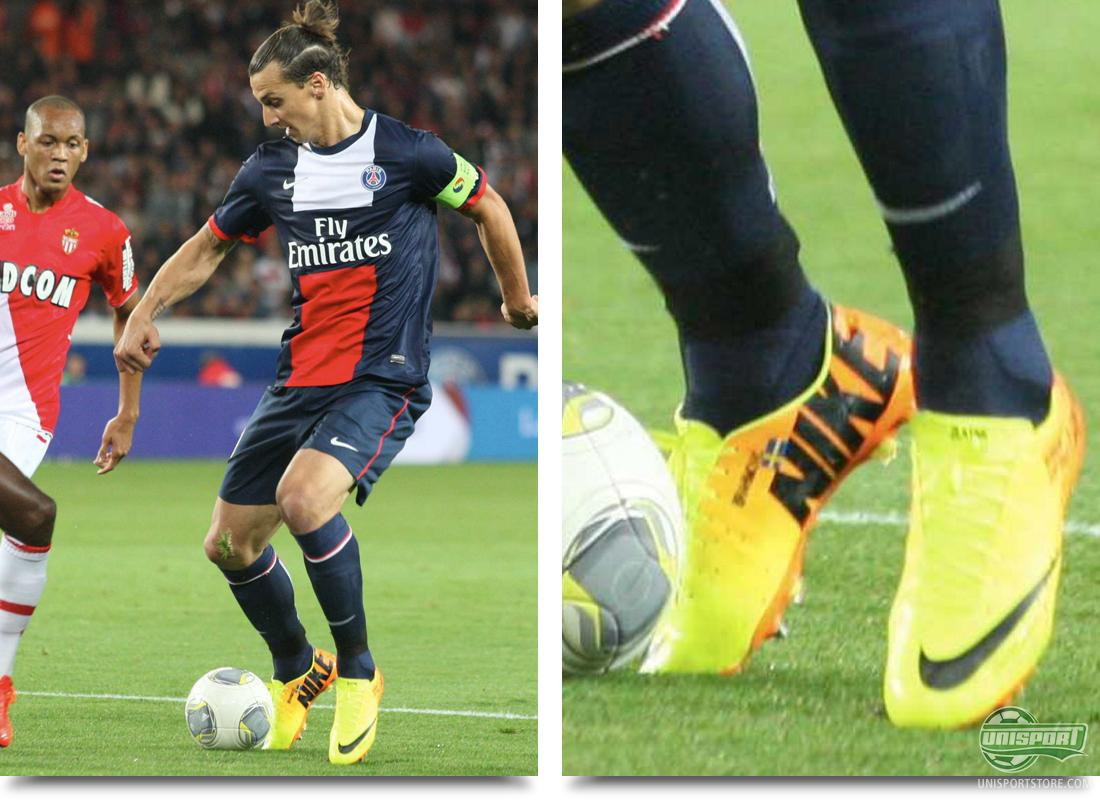 478e5b2a8a14 Zlatan Ibrahimovic (Paris Saint-Germain) . Nike Mercurial Vapor IX  Volt/Black-Bright Citrus Zlatan Ibrahimovic is one of Nike's top profiles,  and until this ...