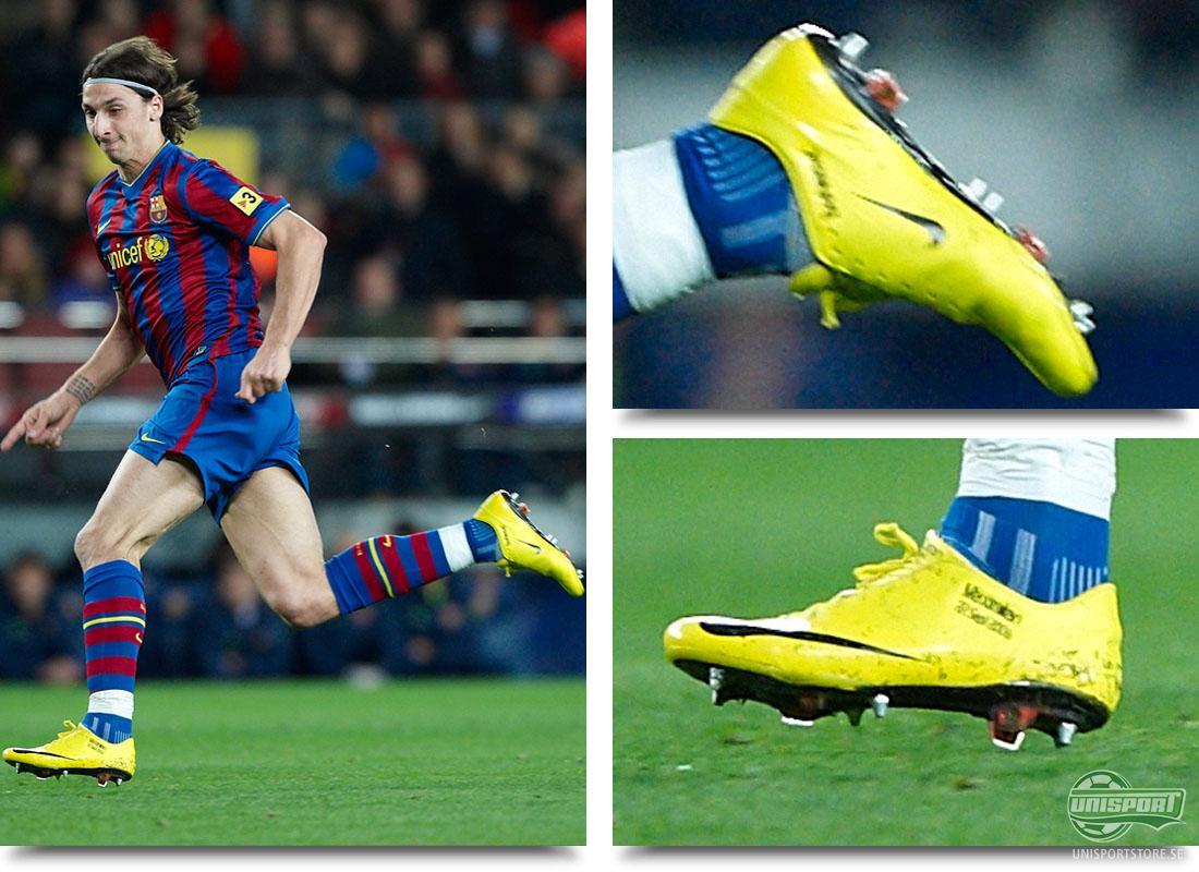 Vilka fotbollsskor har Zlatan Ibrahimovic spelat med?
