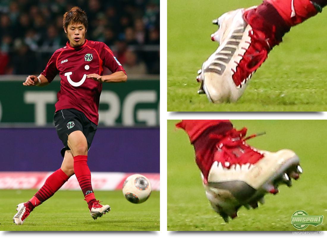 Hiroki Sakai (Hannover 96) Puma Evospeed 1.2 Vit Silver Röd Vi har sett en  del olika skor i denna skospaningen och vi ska även kika på ett par vita  skor. e2ad0c7d66a12