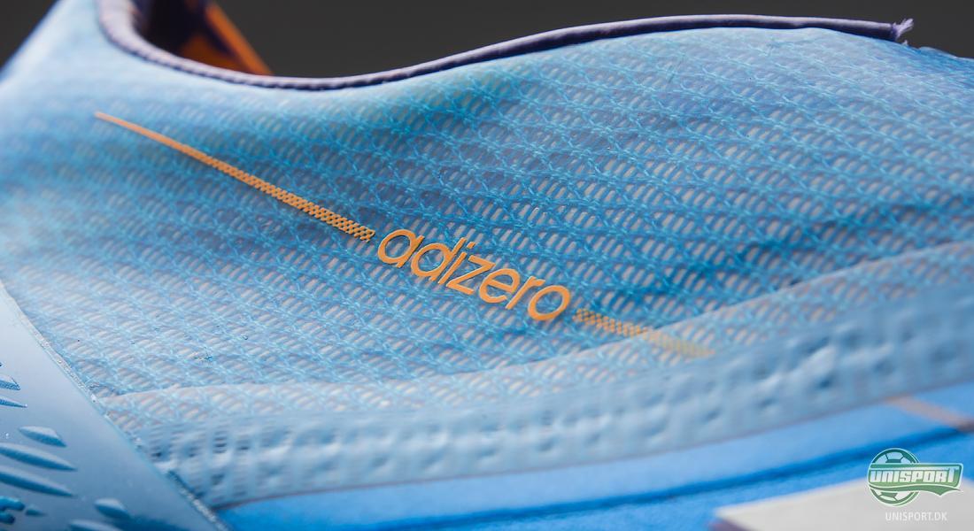 59f2c177a88 ... hælen og frem til midterfoden suppleret af det ultratynde nye  Speedfoil-materiale, som Adidas kan præsentere i forbindelse med denne nye  Adizero støvle.