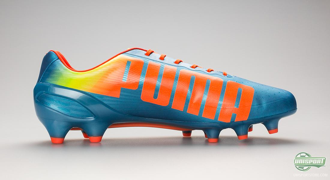 PUMA evoSPEED 1.2 in a new and fresh Blue Yellow Orange colourway 0bd1098235f0