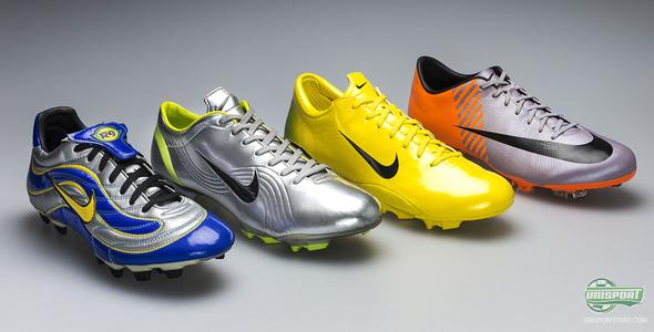 new product a98b1 dde0f Nike Mercurial World Cup football boots from 1998 to 2010