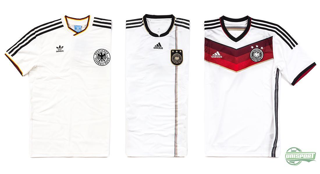 284032db68b Selvom at Tyskland har vundet VM tre gange, har Adidas hevet en anden trøje  frem fra arkiverne. Nemlig trøjen fra 1986, hvor Vesttyskland gik hele  vejen til ...