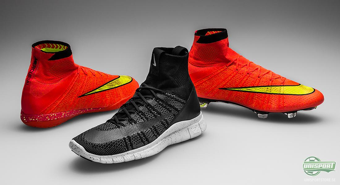 5b3e4252d18 Flyknit-ovandelen och den karaktäristiska Dynamic Fit Collar är något som  de tre Superfly-baserade skorna har gemensamt. Nike Flywire är även  inarbetad i ...