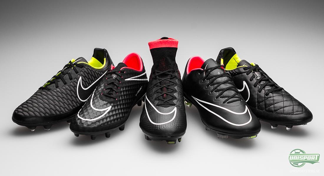 huge selection of 10fbf 34a98 Nike Black Pack Svarta fotbollsskor för hösten