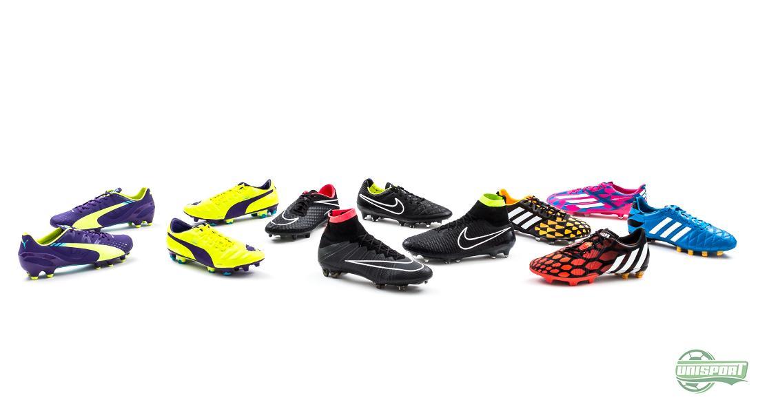 Vem gör bäst fotbollsskor av PUMA, Nike och adidas?