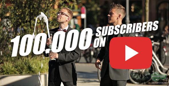 UnisportWebTV: YouTube 100K milepæl feires med giveaways