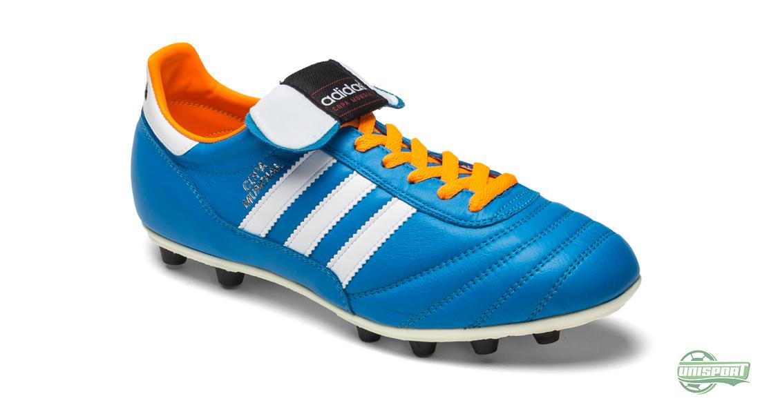 Adidas Copa Mundial Blå Vit (Samba Pack) Vi börjar nedifrån och går uppåt  på vår lista. På 15 e plats hittar vi adidas Copa Mundial. 41810e0dc23b7