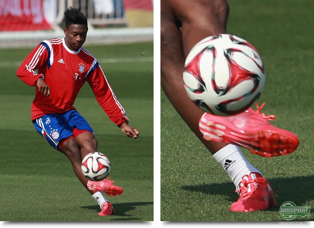 8dba2ad56a David Alaba (Bayern Munich) – adidas F50 Adizero Solar Red White Core Black  Another player