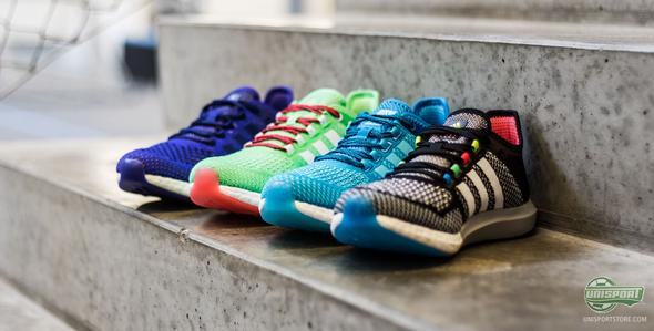 Putting the Adidas Climachill Cosmic Boost Shoes through
