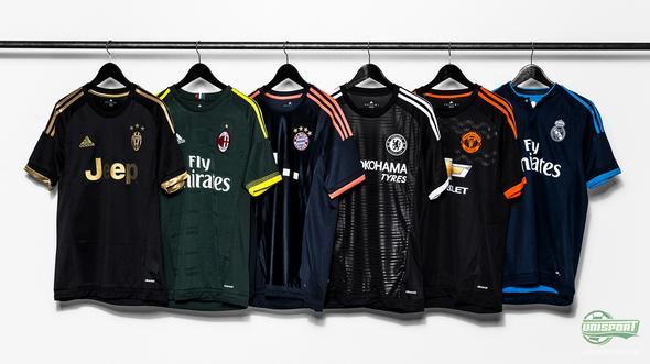 adidas presenterer fem nye tredjedrakter til deres fem største klubber!