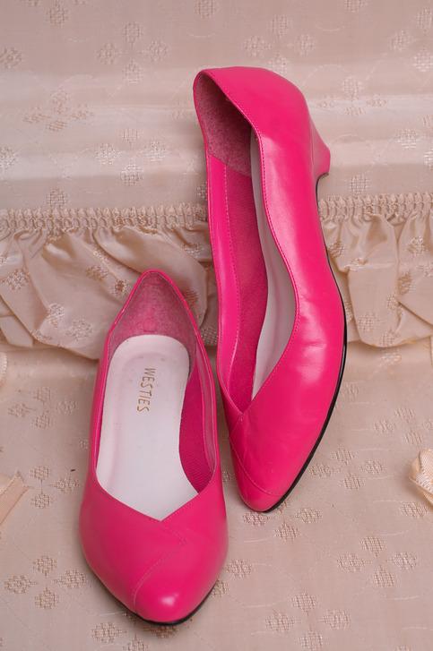 Bright Pink Kitten Heels