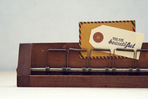 Vintage Wood Photo Holder
