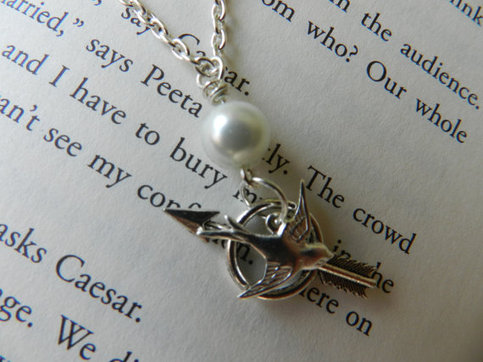Hunger Games Inspired Necklace. Mockingjay