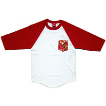 TROPICAL RAGLAN (RED/WHT)