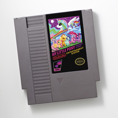 my little pony, mlp, nes, cart, retro, 8-bit