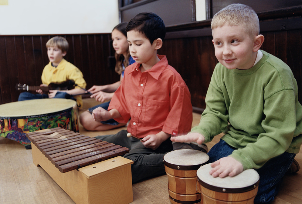 kids with orff instruments