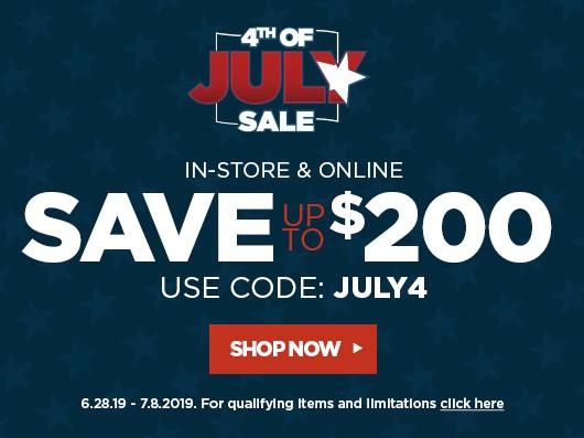 July 4 sales