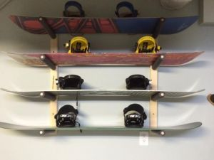 Snowboard Garage Rack | 4 Boards