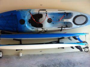 Kayak Hook Storage Rack | Steel Wall Mount
