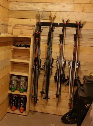 Home Utility Ski Rack | Holds up to 8 Pairs of Skis
