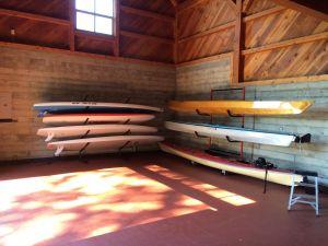 Three Boat Freestanding Kayak Storage