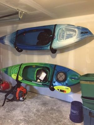 Padded Kayak Wall Rack | Adjustable Safety Strap