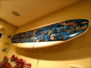 Clear Acrylic Surfboard Wall Rack
