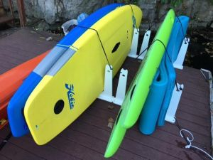 SUP Rack for Docks and Piers | Touring and Race Paddleboards