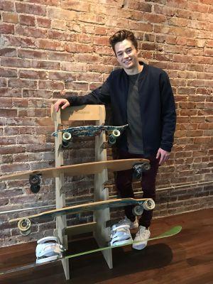 Skateboard Floor Display Rack | Freestanding