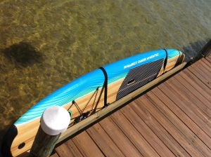 Outdoor SUP Wall Rack | Galvanized Saltwater Storage