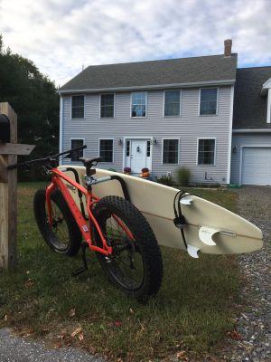 Removable Longboard Surfboard Bike Rack