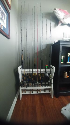 Customized 24 Fishing Rod Storage Rack | Weatherproof Outdoor Storage Stand