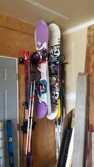 Ski and Snowboard Garage Storage