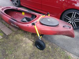 Stern Mount Kayak Dolly | Suspenz Boat Carrier