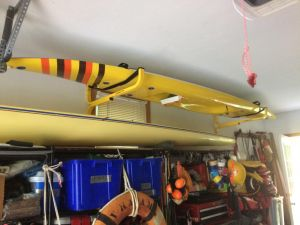 Wall Mounted Kayak Rack | Horizontal Suspension