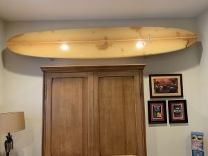 Clear Surfboard Display Rack | Wall Mounted Display
