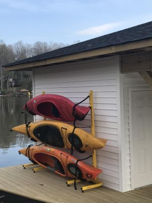 Triple Kayak Storage Rack   Suspenz EZ Rack