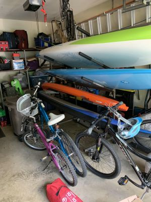 Freestanding SUP Rack |  5 Paddleboard Storage Stand