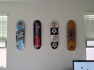 Skateboard Wall Mount Skateboard Deck Display  Floating Mount  Storeyourboard